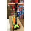 Трёхколёсный самокат Trolo Maxi детский салатовый/оранжевый со светящимися колёсами - уценка