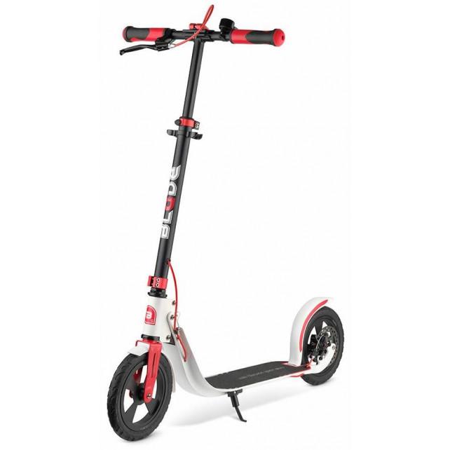 Городской самокат Blade Sport Air Cross Disk на больших колёсах 230 мм white/red для подростков и взрослых с ручным дисковым тормозом