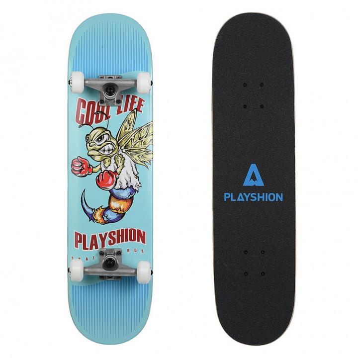 Скейтборд Playshion Cool Life 31.82′′X7.87′′ (80,8 X 20 см) голубой