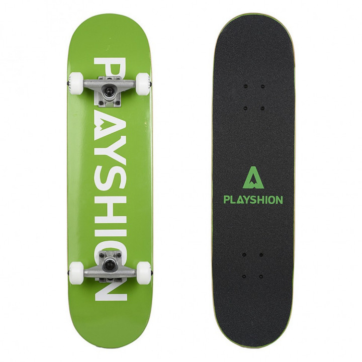 Скейтборд Playshion Gun 31.82′′X7.87′′ (80,8 X 20 см) зелёный