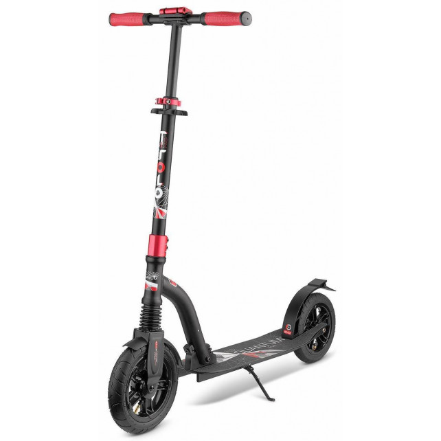 Городской самокат Trolo Quantum Air на больших колёсах 230 мм black для подростков и взрослых