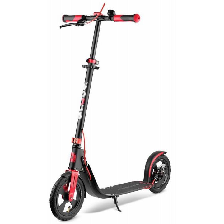 Городской самокат Blade Sport Air Cross Disk на больших колёсах 230 мм black/red для подростков и взрослых с ручным дисковым тормозом