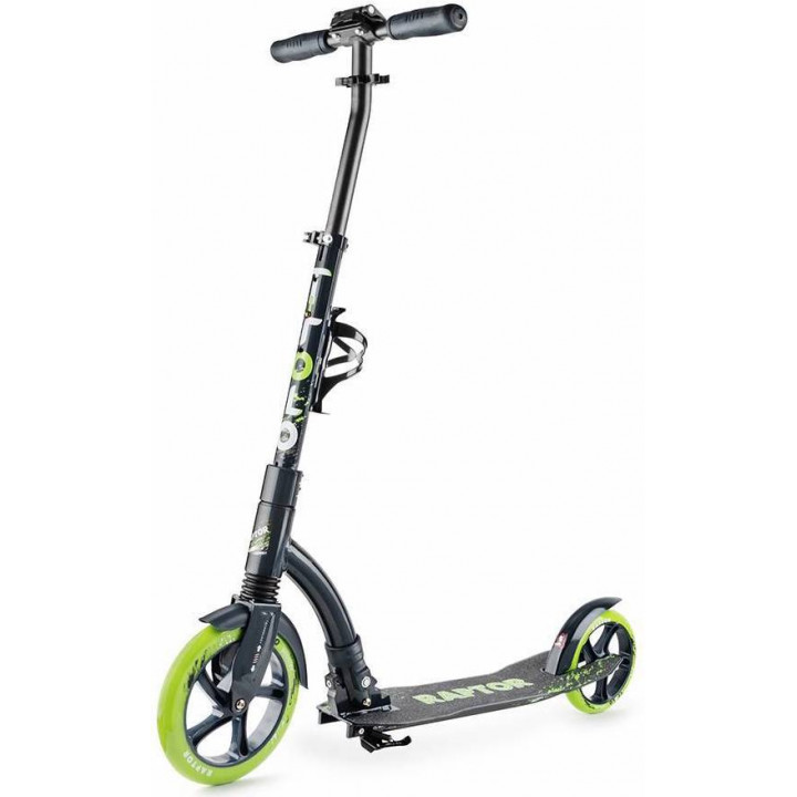 Городской самокат Trolo Raptor на больших колёсах 230 мм green/graphite для подростков и взрослых