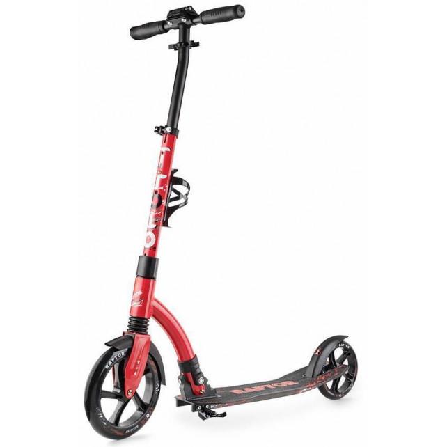 Городской самокат Trolo Raptor на больших колёсах 230 мм red для подростков и взрослых