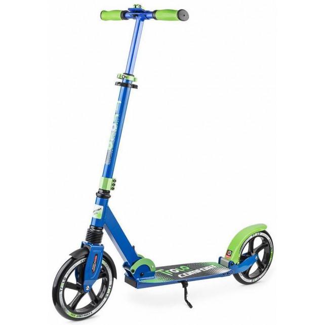 Городской самокат Trolo Comfort на больших колёсах 230 мм blue/green для подростков и взрослых