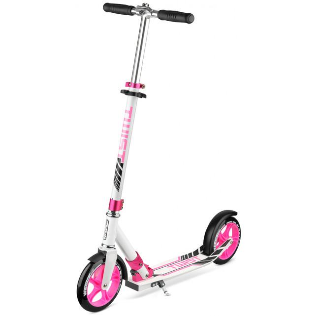 Городской самокат Weelz Twist New на больших колёсах 200 мм Pink для подростков и взрослых