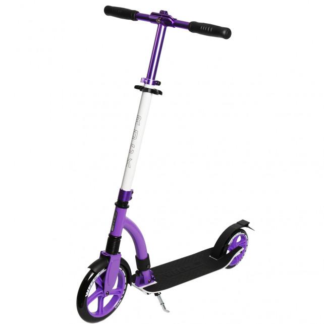 Городской самокат Weelz Rock New на больших колёсах 230 мм White/purple для подростков и взрослых