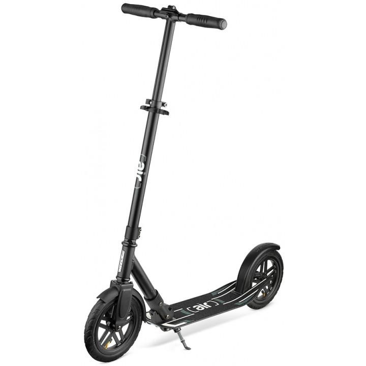 Городской самокат Weelz Air на больших колёсах 230 мм Black для подростков и взрослых