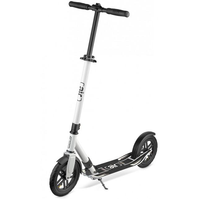 Городской самокат Weelz Air на больших колёсах 230 мм White для подростков и взрослых