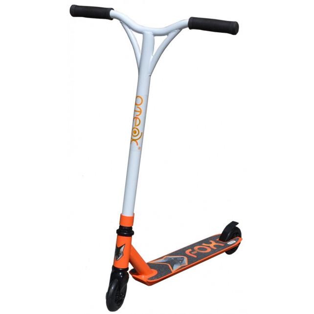Трюковой самокат Ateox Fox 2020 белый/оранжевый для подростков