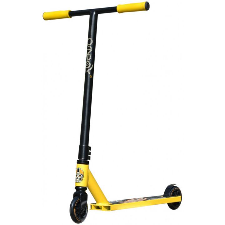 Трюковой самокат Ateox Jump 2020 жёлтый/чёрный для подростков