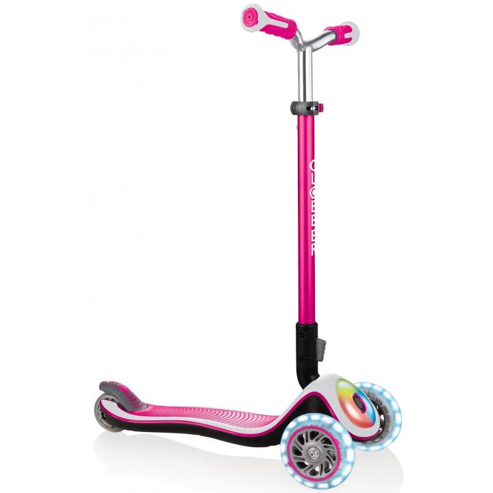 Трёхколёсный самокат Globber ELITE PRIME розовый