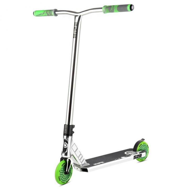 Трюковой самокат Hipe S20 хром/зелёный 2020