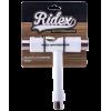 Ключ универсальный Ridex SB белый гаечный торционный с отверткой и шестигранником для скейтбордов