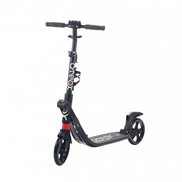 Городской самокат Ateox AVENUE на больших колёсах 200 мм чёрный для подростков и взрослых
