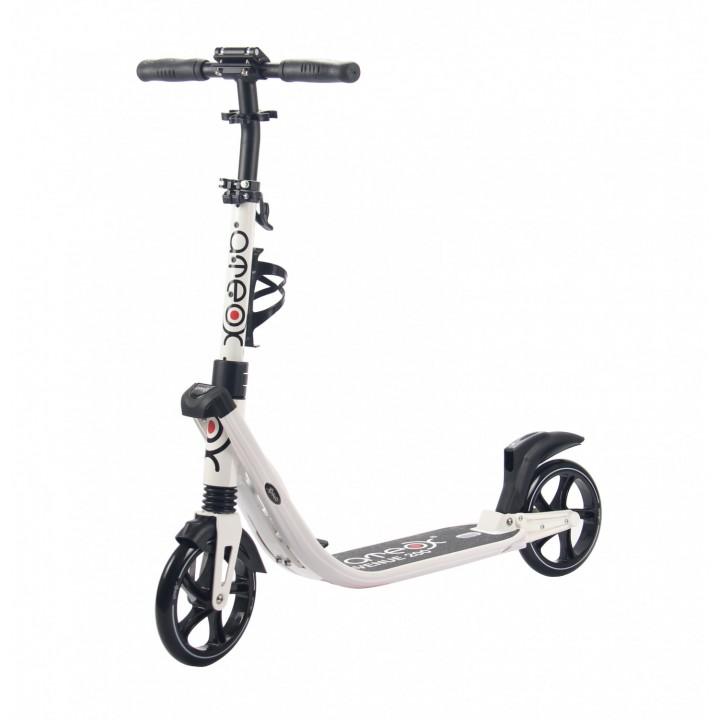 Городской самокат Ateox AVENUE на больших колёсах 200 мм белый для подростков и взрослых