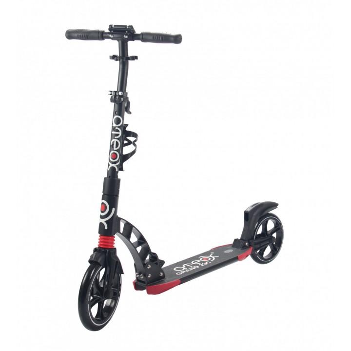 Городской самокат Ateox GRAND на больших колёсах 230 мм чёрный для подростков и взрослых