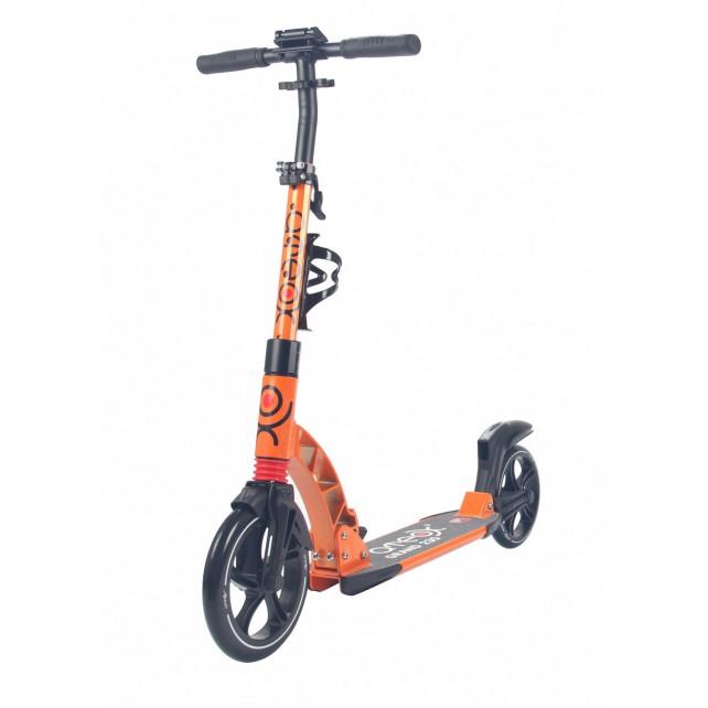 Городской самокат Ateox GRAND на больших колёсах 230 мм оранжевый для подростков и взрослых