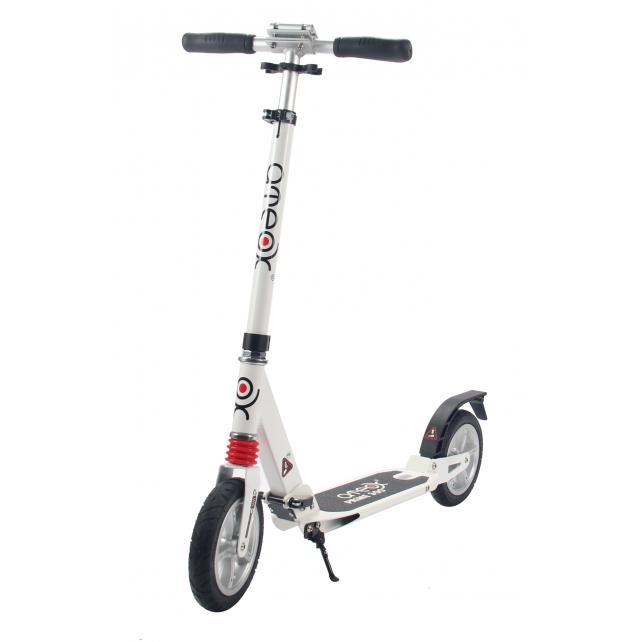 Городской самокат Ateox PRIME 300 на больших надувных колёсах 200 мм белый для подростков и взрослых