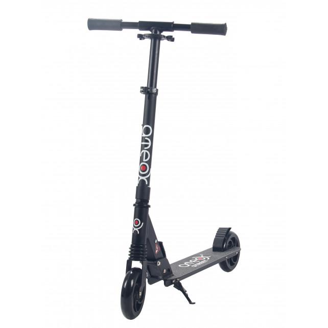 Городской самокат Ateox STREET на колёсах 145 мм чёрный для подростков и взрослых