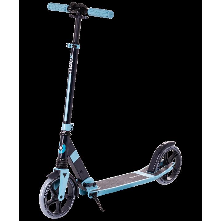 Городской самокат Ridex Adept на больших колёсах 200 мм голубой для подростков и взрослых