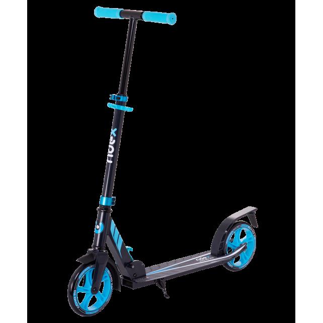 Городской самокат Ridex Echo 2.0 на больших колёсах 180 мм синий для подростков и взрослых
