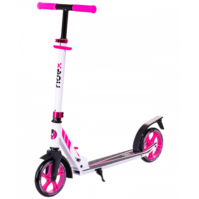 Городской самокат Ridex Echo 2.0 на больших колёсах 180 мм белый/розовый для подростков и взрослых