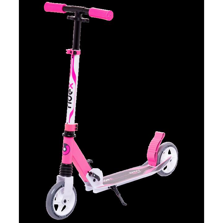 Городской самокат Ridex Envy на больших колёсах 145 мм белый/розовый для детей и подростков