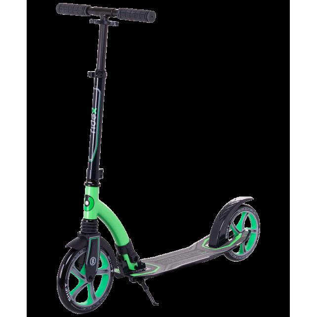 Городской самокат Ridex Shift на больших колёсах 230 мм зелёный для подростков и взрослых