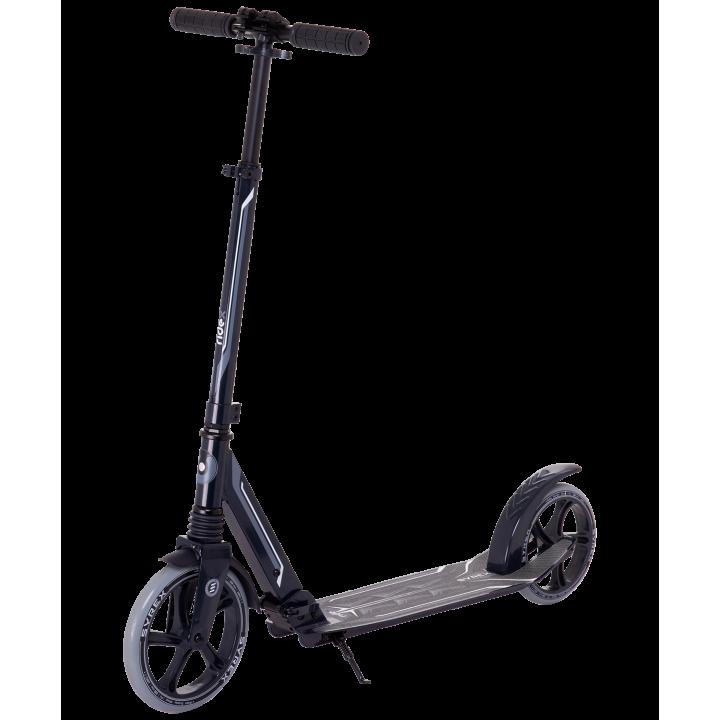 Городской самокат Ridex Syrex на больших колёсах 230 мм чёрный для подростков и взрослых