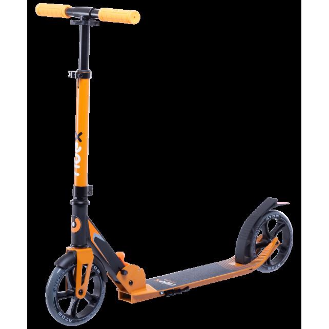 Городской самокат Ridex Atom на больших колёсах 180 мм оранжевый для подростков и взрослых