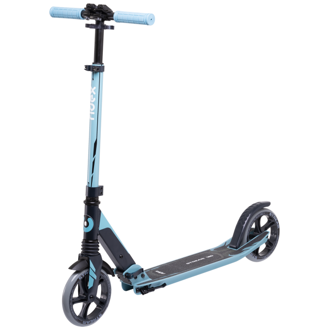 Городской самокат Ridex Stream на больших колёсах 180 мм голубой для подростков и взрослых