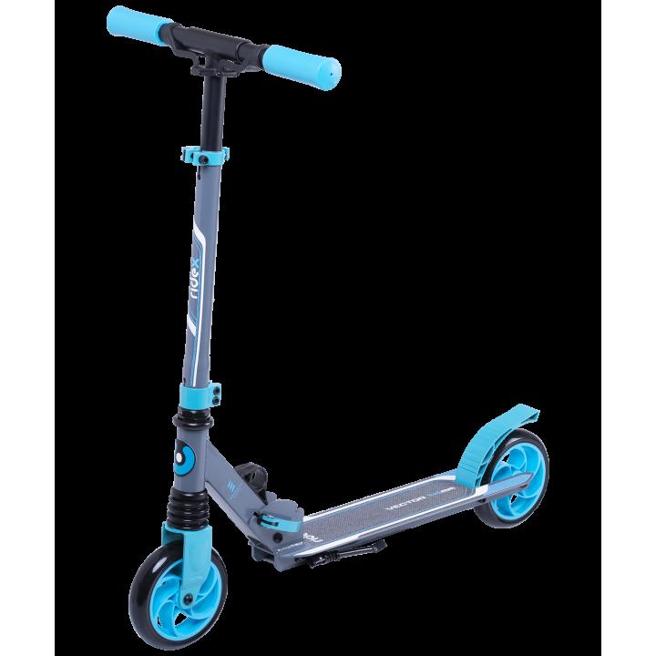 Городской самокат Ridex Vector на больших колёсах 145 мм синий для детей и подростков