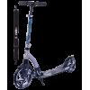 Городской самокат Ridex Bullet на больших колёсах 230 мм серый/черный для взрослых и подростков