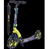 Городской самокат Ridex Bullet на больших колёсах 230 мм зелёный/черный для взрослых и подростков