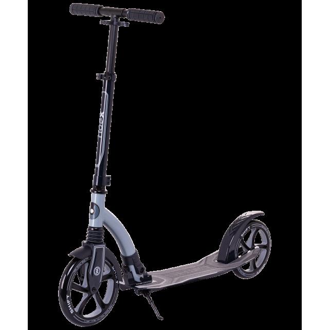 Городской самокат Ridex Shift на больших колёсах 230 мм серый для подростков и взрослых