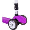 Трёхколёсный самокат Ridex Smart 3D детский фиолетовый складной со светящимися колёсами