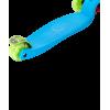 Трёхколёсный самокат Ridex Snappy 2.0 3D детский голубой/зеленый со светящимися колёсами