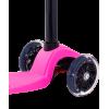 Трёхколёсный самокат Ridex Snappy 3D детский розовый со светящимися колёсами