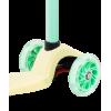 Трёхколёсный самокат Ridex Snappy 3D детский желтый/мятный со светящимися колёсами