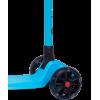 Трёхколёсный самокат Ridex Stark 3D детский синий складной со светящимися колёсами