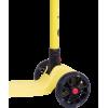 Трёхколёсный самокат Ridex Stark 3D детский жёлтый складной со светящимися колёсами