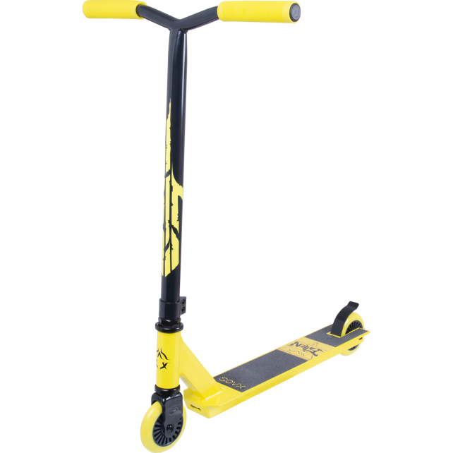 Трюковой самокат Xaos Fallen Yellow 100 мм для подростков
