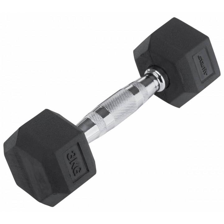 Гантель обрезиненная STARFIT DB-301  3 кг, черная