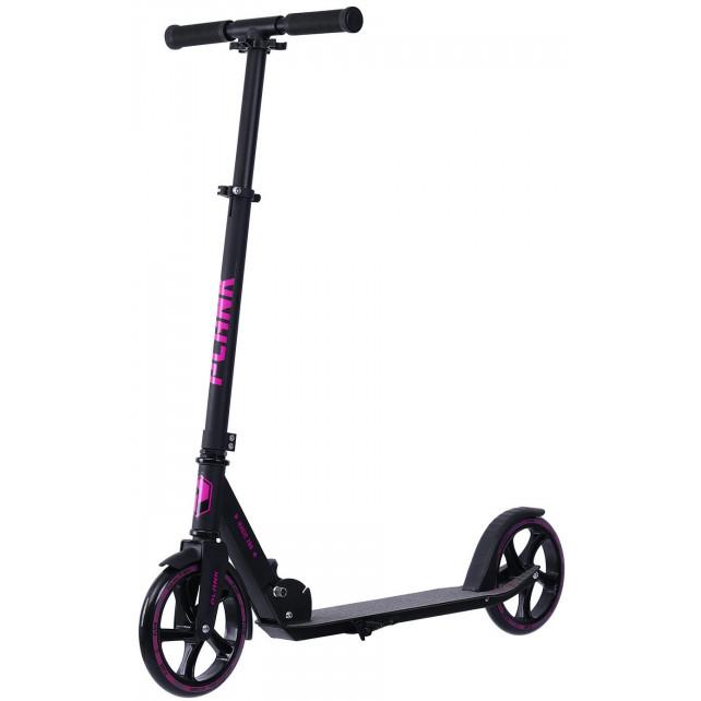 Городской самокат Plank Magic 200 чёрно-фиолетовый BKPU для подростков и взрослых