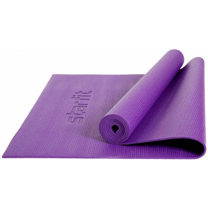 Коврик для йоги и фитнеса STARFIT Core FM-101 PVC, 0,4 см, 173x61 см, фиолетовый