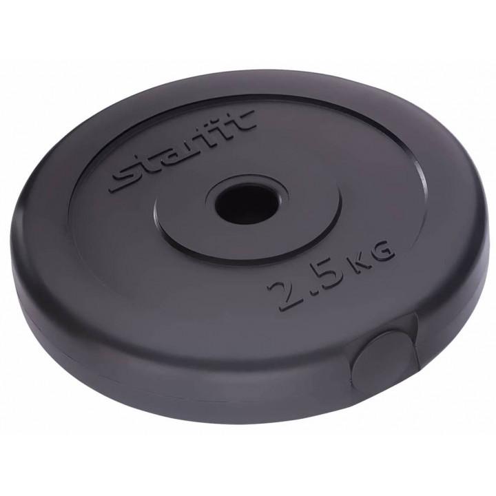 Диск пластиковый STARFIT BB-203  2,5 кг, d=26 мм, черный