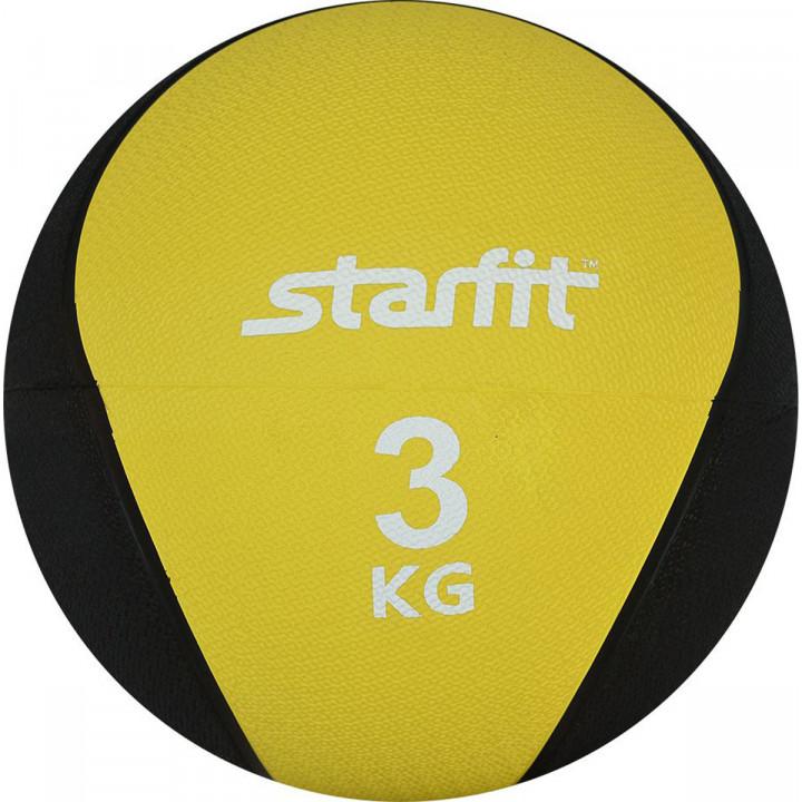 Медбол STARFIT Pro GB-702, 3 кг, желтый