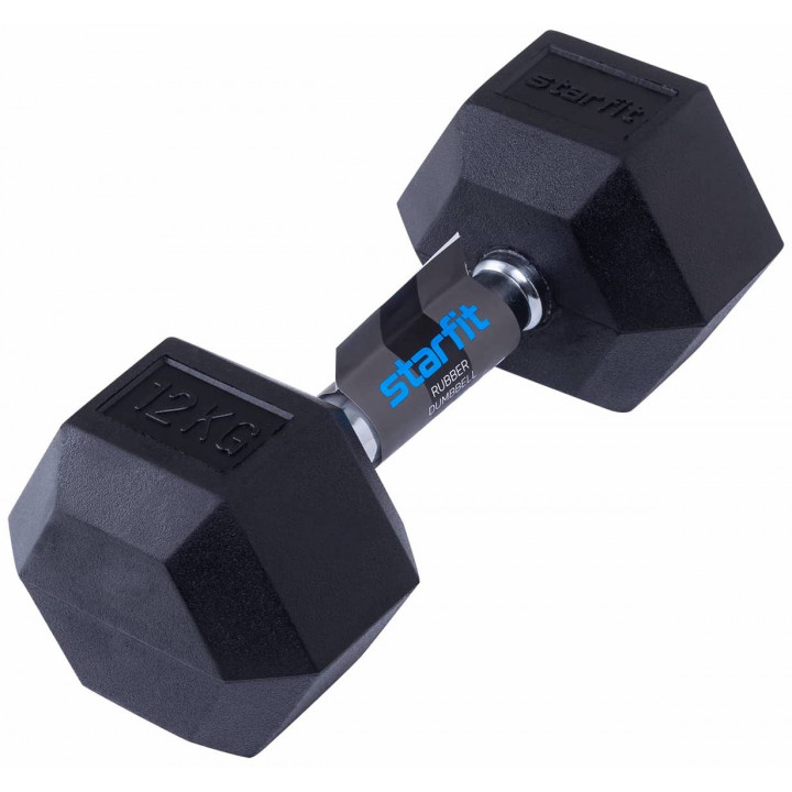 Гантель обрезиненная STARFIT DB-301 12 кг, черная