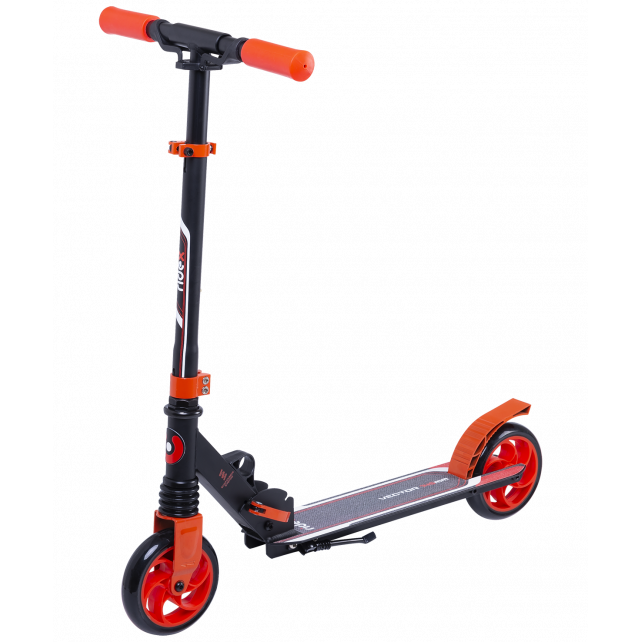 Городской самокат Ridex Vector на больших колёсах 145 мм красный для детей и подростков